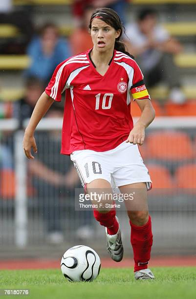 Jennifer Maroszan of Germany runs with the ball during the Women's U15 four nations tournament match between Germany and Russia on August 17 2007 in...