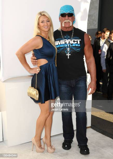 Jennifer McDaniels and Hulk Hogan attend Spike TV's 2011 Video Game Awards at Sony Studios on December 10 2011 in Los Angeles California