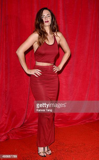 Jennifer Metcalfe attends the British Soap Awards held at the Hackney Empire on May 24 2014 in London England