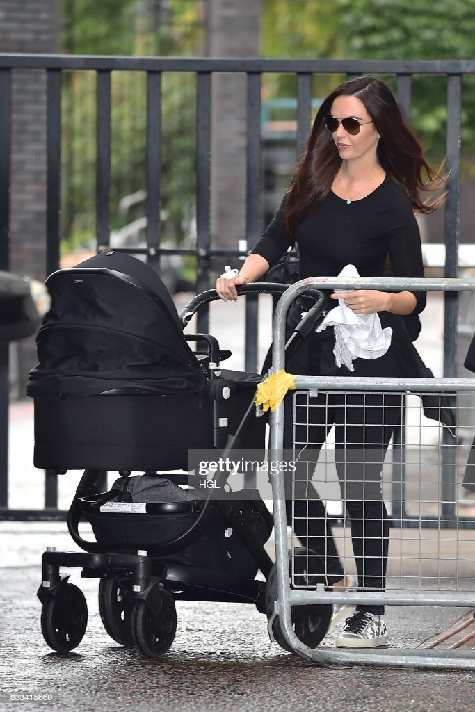 Jennifer Metcalfe seen at the ITV Studios on August 17, 2017 in London, England.