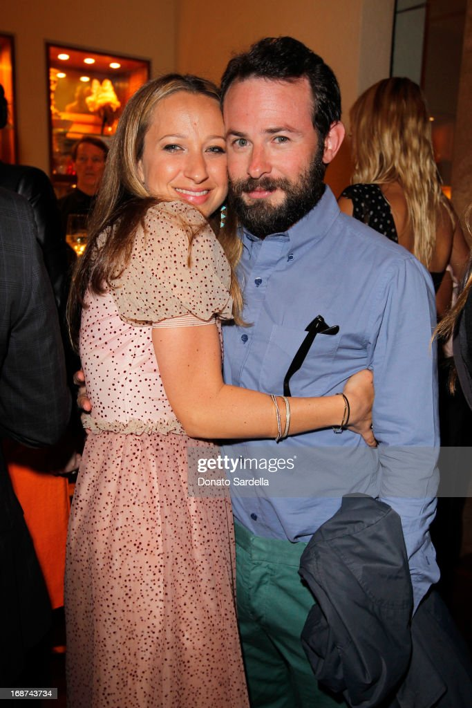 Jennifer Meyer (L) and Bryan Furst attend a celebration of Jennifer Meyer's CFDA Swarovski nomination hosted by Rodarte at the residence of Joel and Karyn Silver on May 11, 2013 in Los Angeles, California.