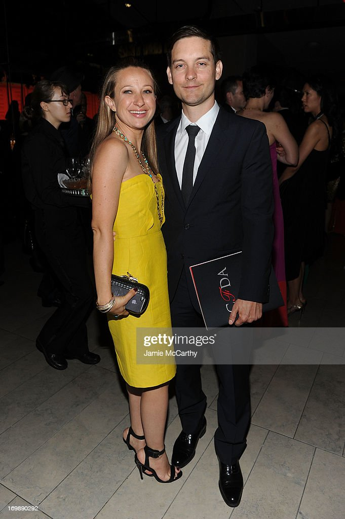 Jennifer Meyer and Tobey Maguire attend the 2013 CFDA Fashion Awards on June 3, 2013 in New York, United States.