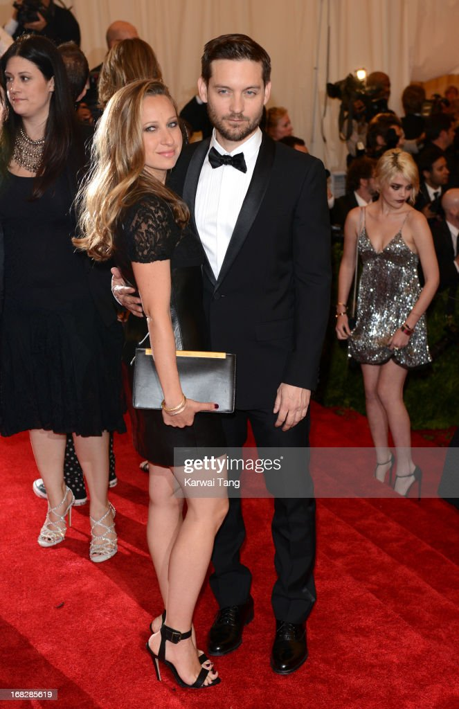 <a gi-track='captionPersonalityLinkClicked' href=/galleries/search?phrase=Jennifer+Meyer&family=editorial&specificpeople=240137 ng-click='$event.stopPropagation()'>Jennifer Meyer</a> and Tobey McGuire attend the Costume Institute Gala for the 'PUNK: Chaos to Couture' exhibition at the Metropolitan Museum of Art on May 6, 2013 in New York City.