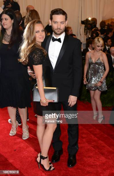 Jennifer Meyer and Tobey McGuire attend the Costume Institute Gala for the 'PUNK Chaos to Couture' exhibition at the Metropolitan Museum of Art on...