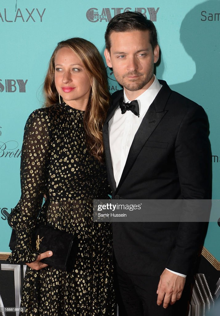<a gi-track='captionPersonalityLinkClicked' href=/galleries/search?phrase=Jennifer+Meyer&family=editorial&specificpeople=240137 ng-click='$event.stopPropagation()'>Jennifer Meyer</a> and Tobey McGuire attend 'The Great Gatsby' Party during the 66th Annual Cannes Film Festival at the Quai Lauboeuf on May 15, 2013 in Cannes, France.