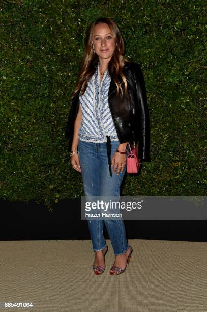 Jennifer Meyer attends the celebration of Chanel's Gabrielle Bag hosted by Caroline De Maigret and Pharrell Williams at Giorgio Baldi on April 6 2017...