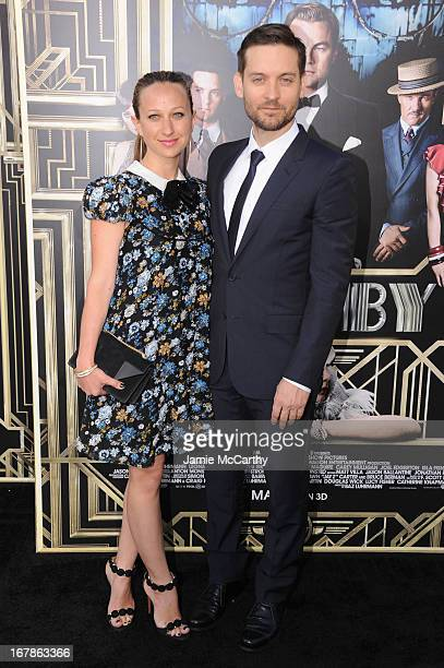 Jennifer Meyer Maguire and actor Tobey Maguire attend the 'The Great Gatsby' world premiere at Avery Fisher Hall at Lincoln Center for the Performing...