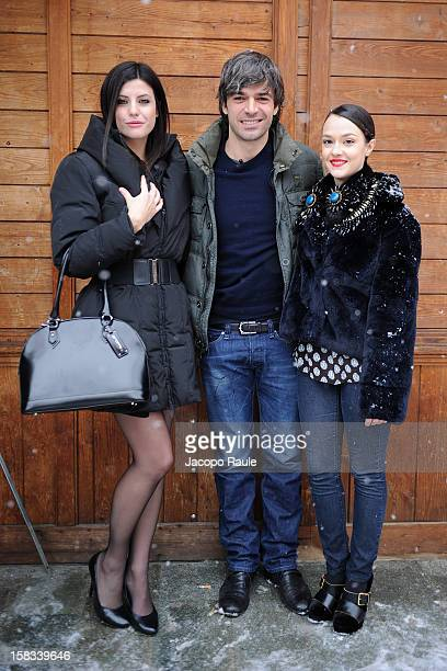 Jennifer Mischiati Luca Argentero and Marta Gastini attend the 22th Courmayeur Noir In Festival on December 13 2012 in Courmayeur Italy
