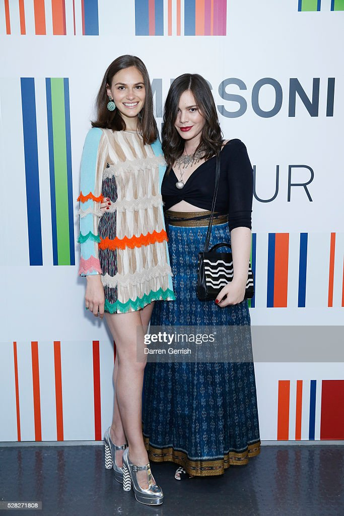 <a gi-track='captionPersonalityLinkClicked' href=/galleries/search?phrase=Jennifer+Missoni&family=editorial&specificpeople=615013 ng-click='$event.stopPropagation()'>Jennifer Missoni</a> and Teresa Maccapani Missoni attend the Missoni Art Colour preview in partnership with The Woolmark Company at The Fashion and Textile Museum on May 4, 2016 in London, England.