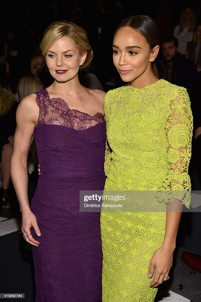 <a gi-track='captionPersonalityLinkClicked' href=/galleries/search?phrase=Jennifer+Morrison&family=editorial&specificpeople=233495 ng-click='$event.stopPropagation()'>Jennifer Morrison</a> (L) and <a gi-track='captionPersonalityLinkClicked' href=/galleries/search?phrase=Ashley+Madekwe&family=editorial&specificpeople=5526423 ng-click='$event.stopPropagation()'>Ashley Madekwe</a> attend the Monique Lhuillier Fall 2016 fashion show during New York Fashion Week: The Shows at The Arc, Skylight at Moynihan Station on February 13, 2016 in New York City.