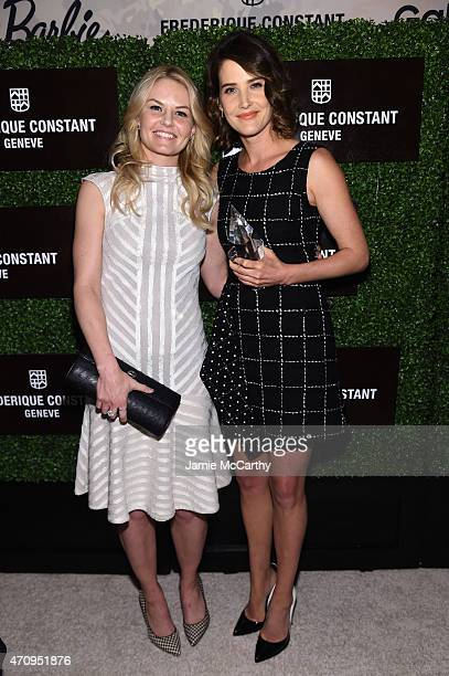 Jennifer Morrison and Cobi Smulders pose backstage at Variety's Power of Women New York presented by Lifetime at Cipriani 42nd Street on April 24...