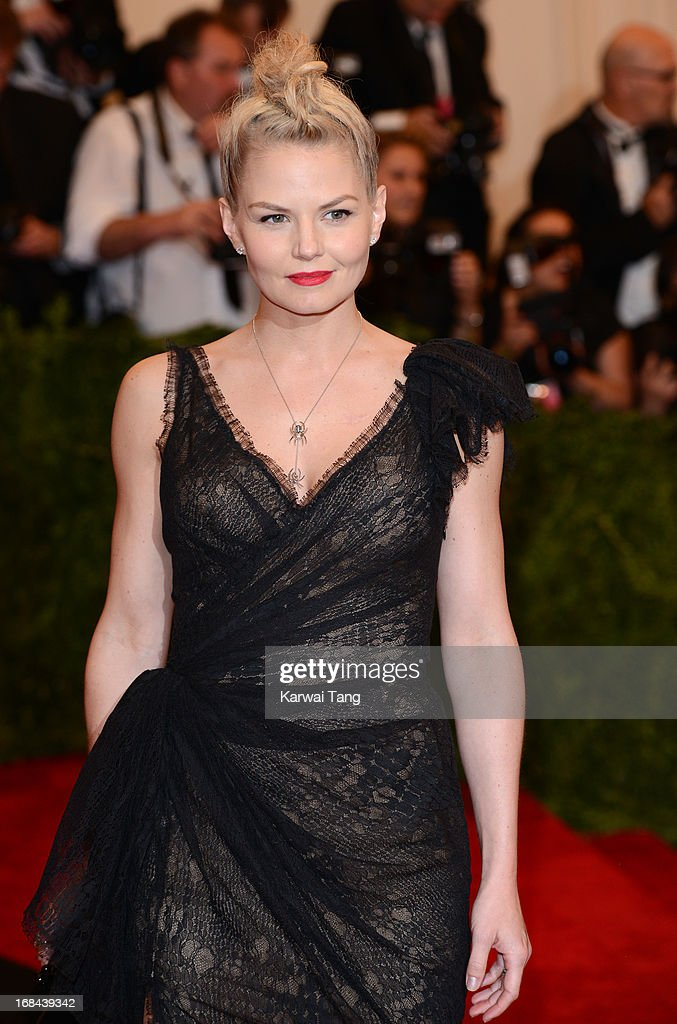 Jennifer Morrison attends the Costume Institute Gala for the 'PUNK: Chaos to Couture' exhibition at the Metropolitan Museum of Art on May 6, 2013 in New York City.