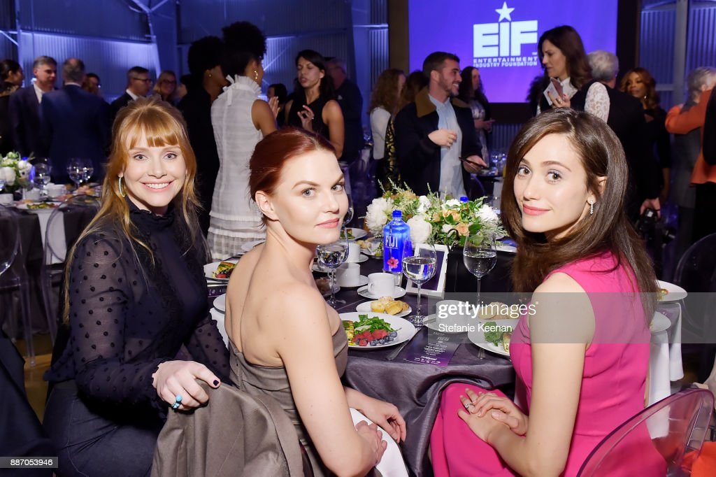 Jennifer Morrison, Bryce Dallas Howard and Emmy Rossum at The Hollywood Reporter's 26th Annual Women In Entertainment Breakfast presented in partnership with FIJI Water at Milk Studios on December 6, 2017 in Los Angeles, California.