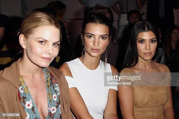 Jennifer Morrison Emily Ratajkowski and Kourtney Kardashian attend the alice olivia By Stacey Bendet And Neiman Marcus Present SeeNowBuyNow Runway...