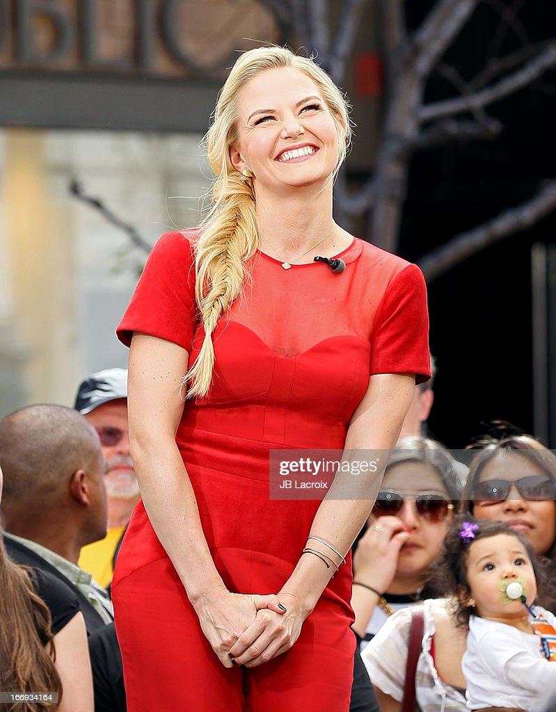 Jennifer Morrison is seen on April 18, 2013 in Los Angeles, California.
