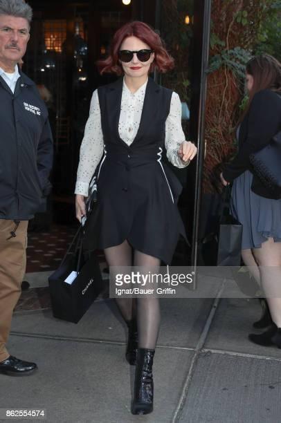 Jennifer Morrison is seen on October 17 2017 in New York City