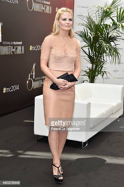 Jennifer Morrison poses during a photocall for the TV Show ' Once upon a Time ' as part of the 54th MonteCarlo Television Festival on June 9 2014 in...