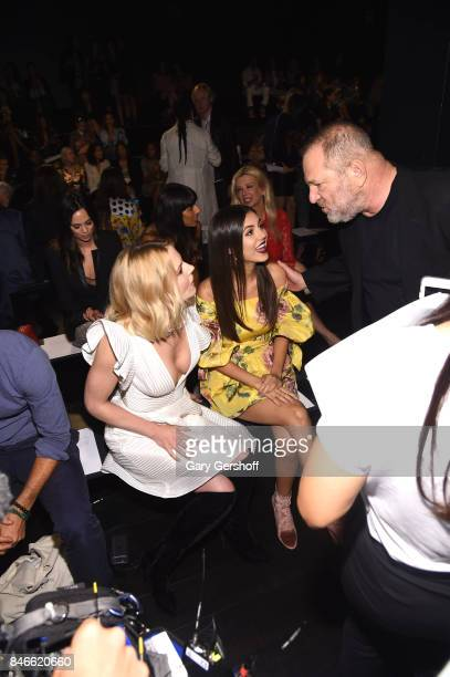 Jennifer Morrison Victoria Justice and Harvey Weinstein attend the Marchesa fashion show during New York Fashion Week at Gallery 1 Skylight Clarkson...