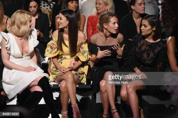 Jennifer Morrison Victoria Justice Dylan Penn and Olivia Culpo attend the Marchesa fashion show during New York Fashion Week The Shows at Gallery 1...