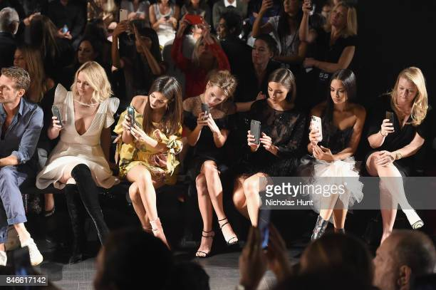 Jennifer Morrison Victoria Justice Dylan Penn Olivia Culpo and Shanina Shaik attend the Marchesa fashion show during New York Fashion Week The Shows...