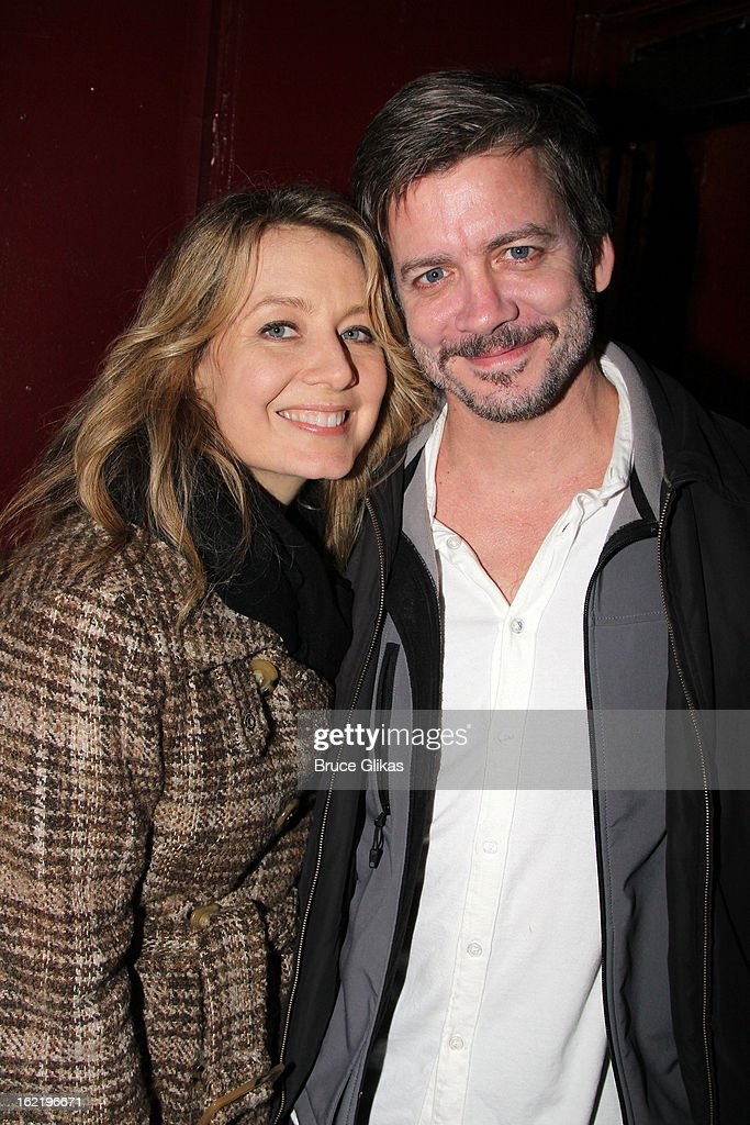 Jennifer Mudge and Chris Henry Coffey attend 'Really, Really' on Opening Night at the Lucille Lortel Theatre on February 19, 2013 in New York, United States.