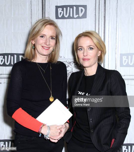 Jennifer Nadel and Gillian Anderson discuss 'We A Manifesto For Women Everywhere' during the BUILD Series at Build Studio on March 13 2017 in New...