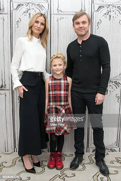 Jennifer Nettles Alyvia Alyn Lind and Ricky Schroder attend the AOL BUILD Series 'Dolly Parton's Coat Of Many Colors' at AOL Studios In New York on...