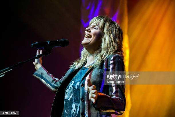 Jennifer Nettles performs in support of That Girl Tour at The Soundboard Motor City Casino on March 11 2014 in Detroit Michigan