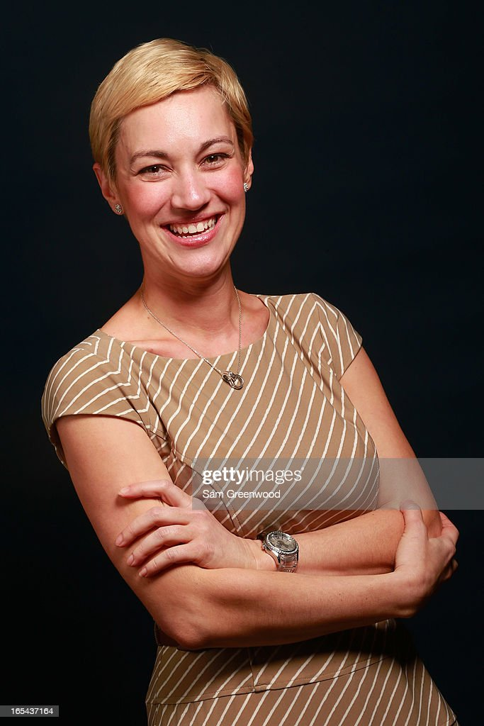 Jennifer Odell, North America Events and Sponsorships Manager for Getty Images poses at the World Congress Of Sports Executive Portrait Studio on April 3, 2013 in Naples, Florida.