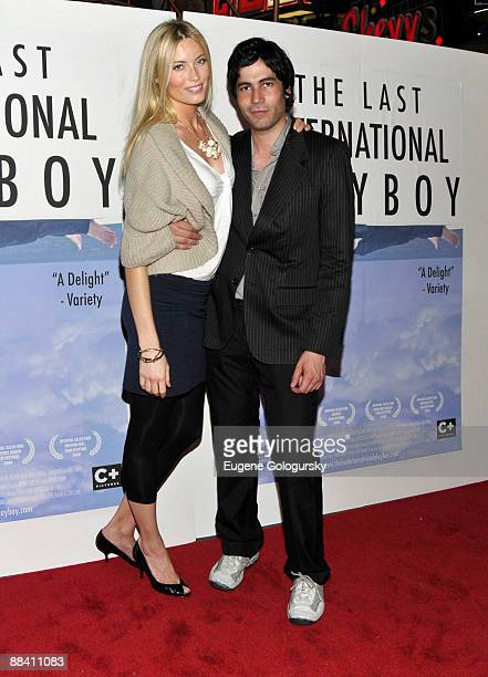 Jennifer Ohlsson and Carlos Velazquez attend 'The Last International Playboy' premiere at AMC Empire 25 on June 10 2009 in New York City