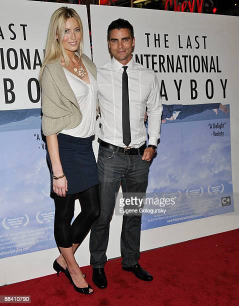 Jennifer Ohlsson and Colin Egglesfield attend 'The Last International Playboy' premiere at AMC Empire 25 on June 10 2009 in New York City