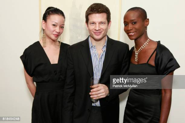 Jennifer Ong Robert Miller and Deborah Pierre attend Reception For PATTI SMITH And STEVEN SEBRING TONIC Board of Creators at Robert Miller Gallery on...