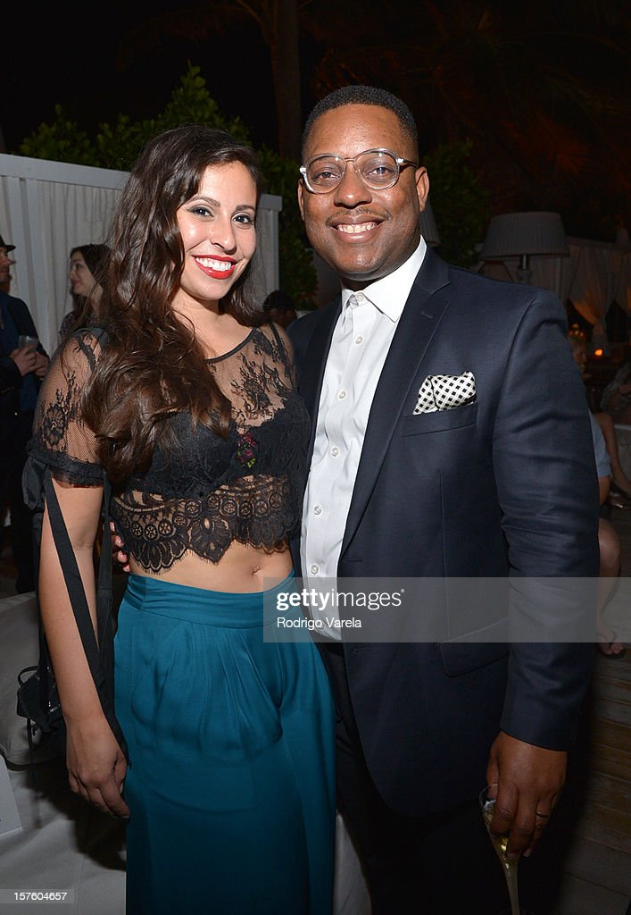 Jennifer Ortiz and Amani Olu attend the Whitewall Magazine Party At Delano Beach Club at Delano Beach Club on December 4, 2012 in Miami Beach, Florida.