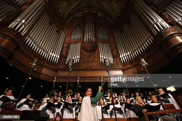 Jennifer Pascual director of music at St Patrick's Cathedral St Patrick's Cathedral September 24 2015 in New York City The Pope is on his first trip...