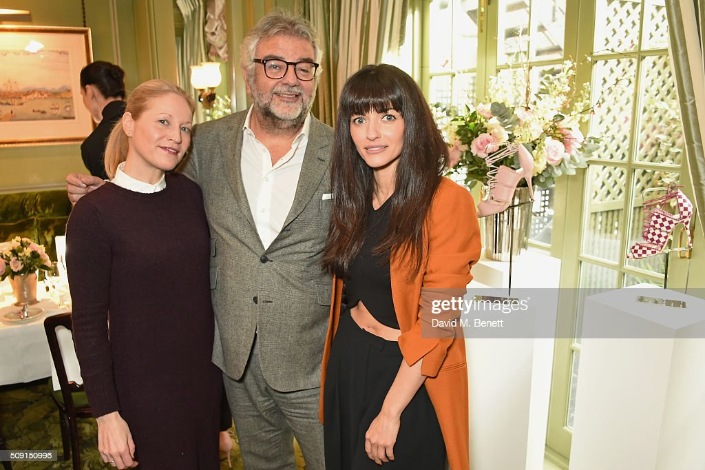 Jennifer Portman, designer and founder of Bionda Castana, Robert Bensoussan, CEO of L.K. Bennett, and Natalia Barbieri, designer and founder of Bionda Castana, attend the L.K.Bennett x Bionda Castana lunch at Mark's Club on February 9, 2016 in London, England.