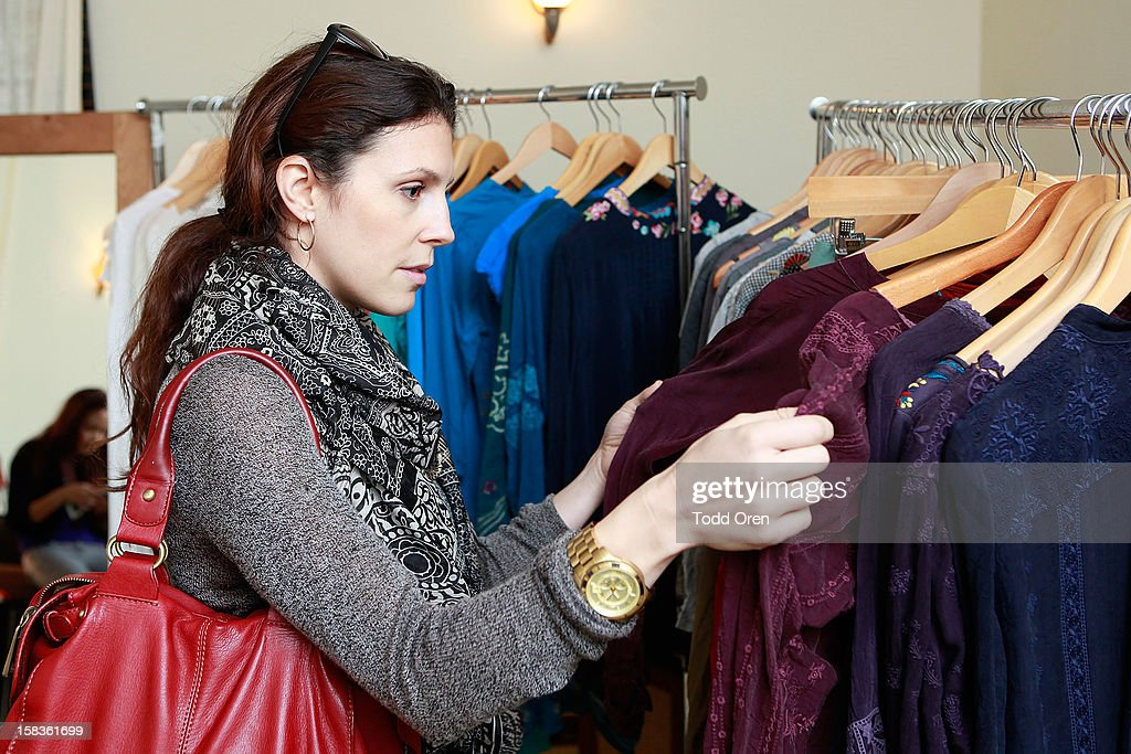 Jennifer Powell from Next Models shops at the Johnny Was Holiday Gifting Suite at Chateau Marmont on December 13, 2012 in Los Angeles, California.