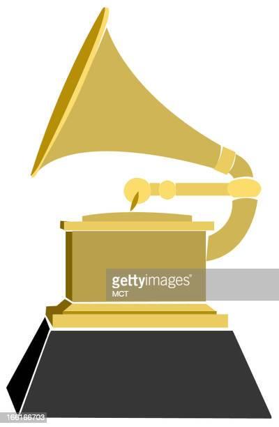 Jennifer Pritchard illustration of a Grammy award