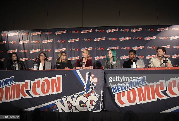 Jennifer Robinson Stacey Sher Amanda Lasher actress Eliza Bennett actress Taylor Dearden actor Brandon Mychal Smith and actor Nick Fink attend the...