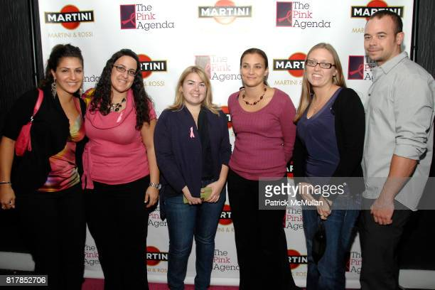 Jennifer Rodriguez Joyce Shabo Cassie Camron Maxine Hounsle Donna Carol and Michael Sasjack attend MARTINI hosts THE PINK AGENDA Breast Cancer...
