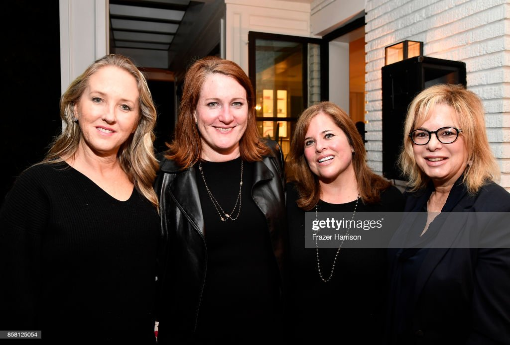 Jennifer Salke, Megan Colligan;Holly Jacobs; Laura Lizer attend BBBSLA And The Hollywood Reporter's Women In Entertainment Mentor Reunion Cocktail Reception at Private Residence on October 5, 2017 in Los Angeles, California.