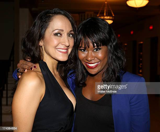 Jennifer Sanchez and Christina Sajous attend the Opening Night Performance Reception for the Encores OffCenter Production of 'I'm Getting My Act...