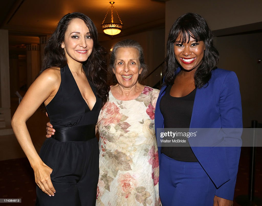 Jennifer Sanchez, Betty Aberlin and Christina Sajous attend the Opening Night Performance Reception for the Encores! Off-Center Production of 'I'm Getting My Act Together And Taking It On The Road' Opening Night Reception at New York City Center on July 24, 2013 in New York City.