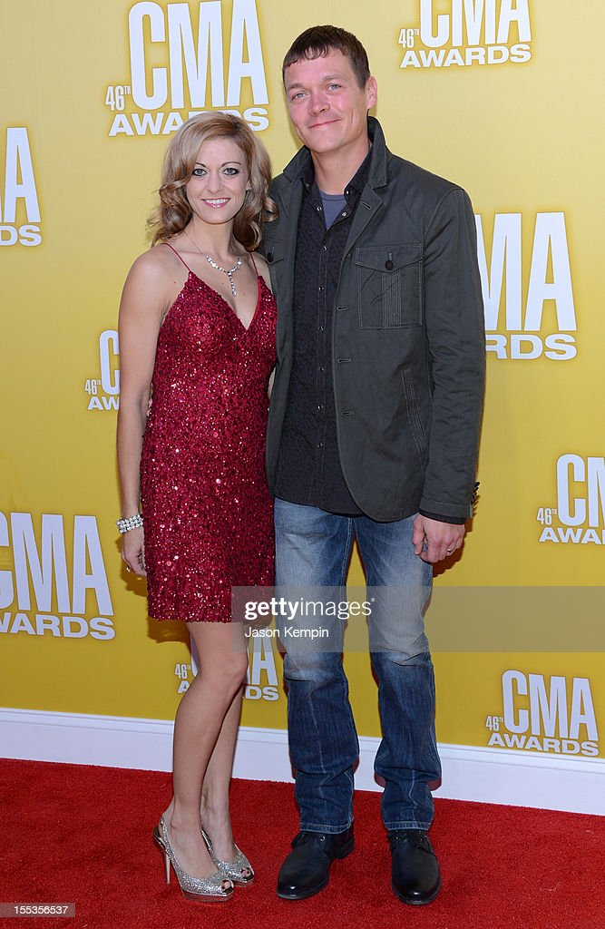 Jennifer Sanderford and Brad Arnold attend the 46th annual CMA Awards at the Bridgestone Arena on November 1, 2012 in Nashville, Tennessee.
