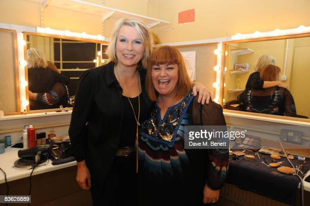 Jennifer Saunders and Dawn French attend the final UK performance of French Saunders' 'Still Alive' in aid of Comic Relief and Chicks charities at...