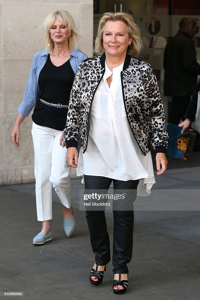 <a gi-track='captionPersonalityLinkClicked' href=/galleries/search?phrase=Jennifer+Saunders&family=editorial&specificpeople=210714 ng-click='$event.stopPropagation()'>Jennifer Saunders</a> and <a gi-track='captionPersonalityLinkClicked' href=/galleries/search?phrase=Joanna+Lumley&family=editorial&specificpeople=206307 ng-click='$event.stopPropagation()'>Joanna Lumley</a> seen at BBC Radio One promoting the new Absolutely Fabulous movie on June 28, 2016 in London, England.