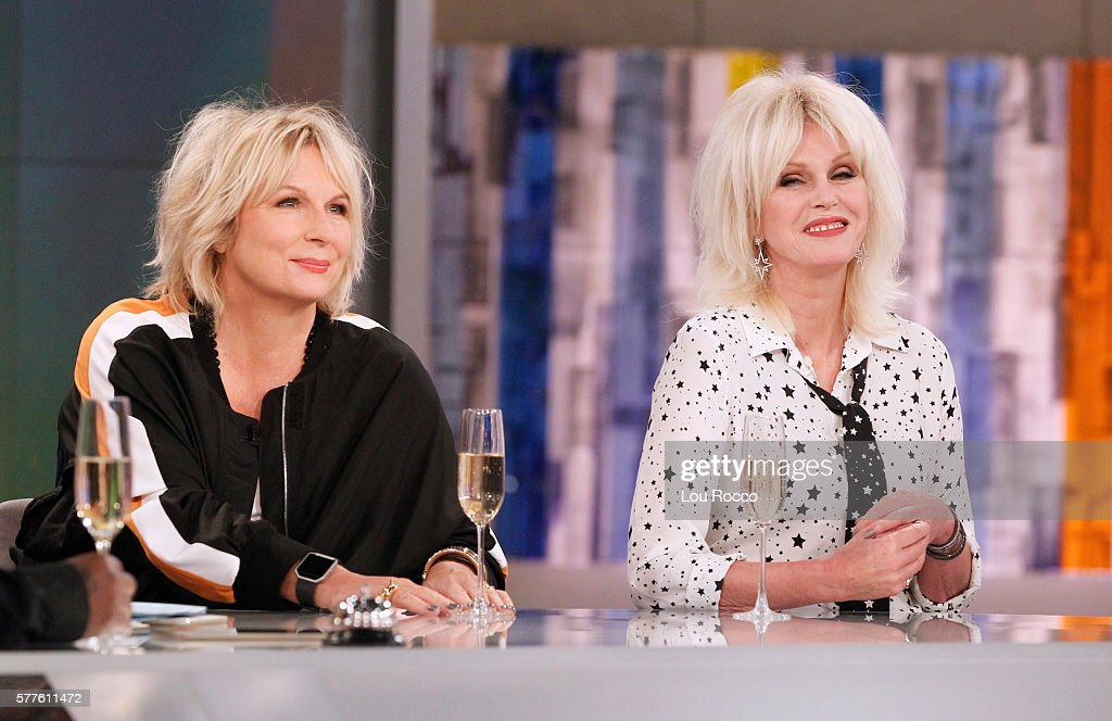 THE VIEW - Jennifer Saunders and Joanna Lumley ('Absolutely Fabulous') were the guests today, Tuesday, July 19, 2016 on 'The View' (11:00 a.m. - 12:00 noon, ET) airing on the ABC Television Network. LUMLEY