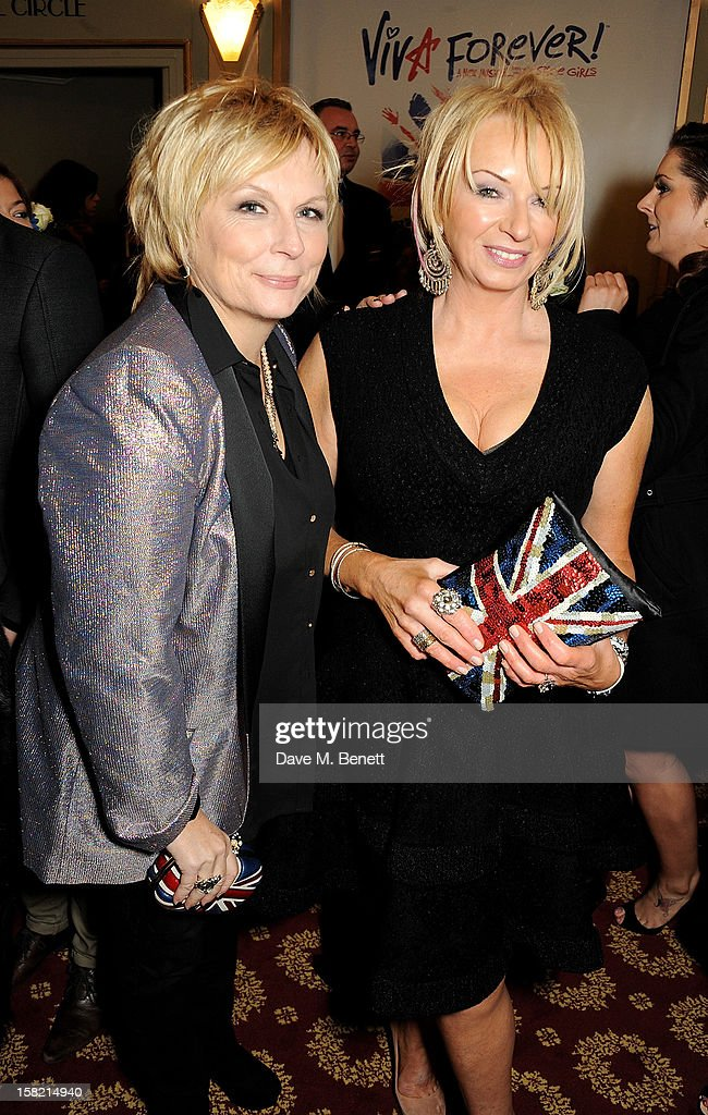 Jennifer Saunders (L) and Judy Craymer arrive at the Gala Press Night performance of 'Viva Forever' at the Piccadilly Theatre on December 11, 2012 in London, England.