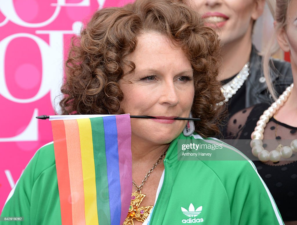 Jennifer Saunders as Eddie, star of 'Absolutely Fabulous: The Movie' attends Pride on June 25, 2016 in London, England.