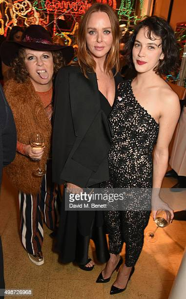 Jennifer Saunders as Edina Monsoon Stella McCartney and Jessica Brown Findlay attend the Stella McCartney Christmas Lights switch on at the Stella...