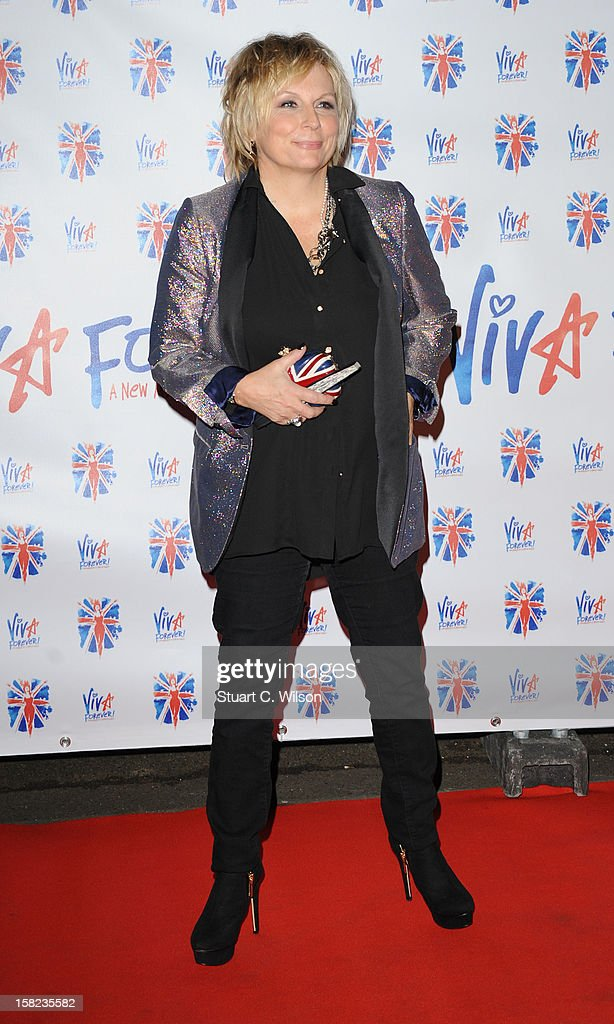 <a gi-track='captionPersonalityLinkClicked' href=/galleries/search?phrase=Jennifer+Saunders&family=editorial&specificpeople=210714 ng-click='$event.stopPropagation()'>Jennifer Saunders</a> attends the after party for the press night of 'Viva Forever', a musical based on the music of The Spice Girls at Victoria Embankment Gardens on December 11, 2012 in London, England.